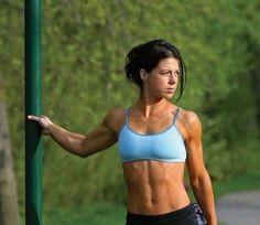 Una runner in piena forma